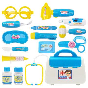 Blue Kids Doctor Nurse Toy Children Pretend Play Case Child Gift Set Kit