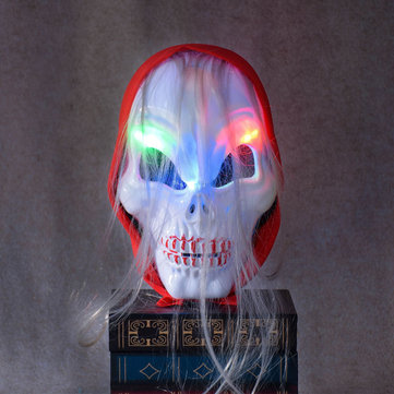 Halloween Horror Skull Ghost LED Light Mask Zombie Red Headscarf hHeadband Luminescent Costume Party