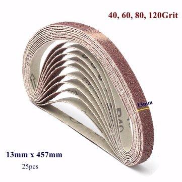 25pcs 13x457mm 40/60/80/120 Grit Zirconia Sanding Belts Abrasive Tools