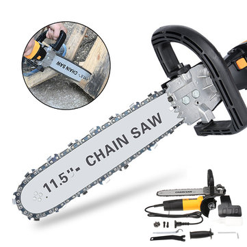 220V 650W Electric Chain Saw Angle Grinder Chain Saw Bracket Set Chainsaw Bracket Woodworking Tool