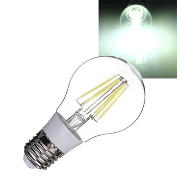 E27 4W Pure White Filament LED Bulb Retro Lamp 360 Degree 85-265V