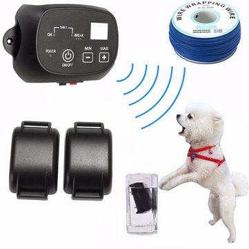 KD660 Su Geçirmez Şarj Edilebilir Evcil Hayvan Köpek Elektronik Çit Sistemi Şok Boğazlar