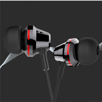 Cafele Metalic Stereo Super Bass In-ear Earphone with Mic Musical Headphone