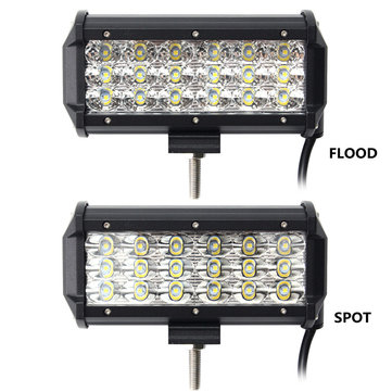 7 Inch 90W LED Light Bar Flood and Spot Off Road Car Truck 9-32V