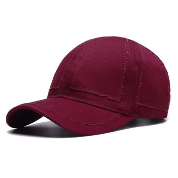 Men Summer Casual Solid Color Baseball Cap Adjustable Outdoo