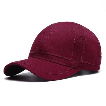 Men Summer Casual Solid Color Baseball Cap Adjustable Outdoo