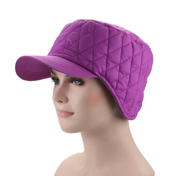 Women Men Windbreaker Fabric Earmuffs Hat