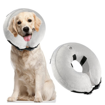 Protective Inflatable Dog Collar Soft Pet Recovery E-Collar Cone for Small Medium Large Dogs