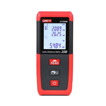 UNI-T UT390M Laser Meter Rangefinder Distance Meter Hunting 0.05-35M Min Unit 1mm Tape Measure Ruler Roulette Tester Tools