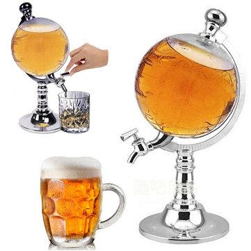 1000cc Globe Shaped Liquor Drink Draft Beer Dispenser Wine Beverage Pump Decanter Tap