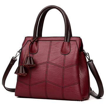 Women High Quality PU Leather Elegant Retro Handbag Shoulder Bag