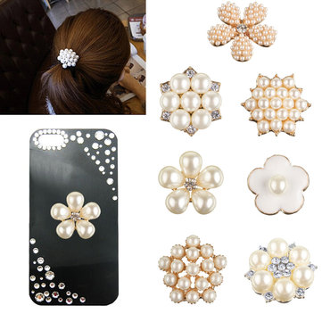 1Pc DIY Pearl Jewelry Accessories Hair Pendant Phone Paste Drill Embellishment