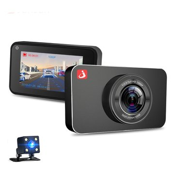 Junsun H9 ADAS Car DVR Camera Full HD 1080P Dual Lens 3 Inch Dash Video Recorder