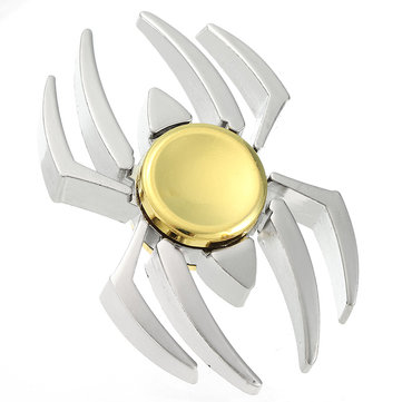 Sliver Spider Shape Rotating Fidget Hand Spinner ADHD Autism Reduce Stress Focus Attention Toys