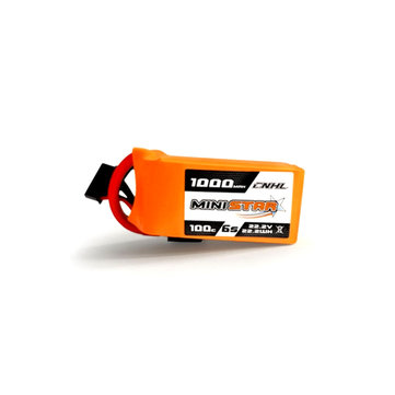 CNHL MiniStar 22.2V 1000mAh 6S 100C Lipo Battery XT60 Plug for RC Drone FPV Racing