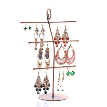 Note Style Bracelet Earrings Iron Jewelry Display Stand