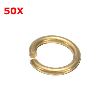 50Pcs Pure Copper Brass Open Circle Ring C-ring Wire Cut for DIY Jewelry Craft