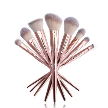 UCANBE 8pcs/set Rose Golden Metallic Makeup Brushes Set Powder Eyeshadow Eyebrow Brush Kit