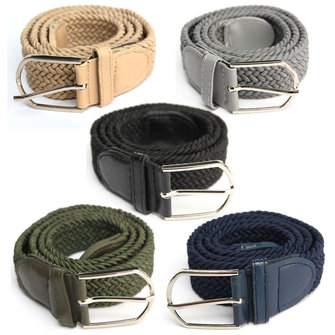 Unisex Men Women Elastic Woven Stretch Canvas Pin Buckle Belt Pants Strip