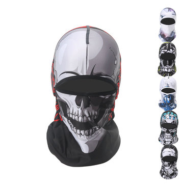 Mens Winter Animal Windproof Sweat Wicking Riding Mask Outdoor Neck Protector Face Mask Cap