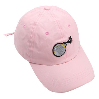 Women Unisex Bomb Embroidery Cotton Baseball Cap Sport Curved Snapback Hip-hop Cap