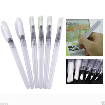 6PCS Capacity Soft Water Color Painting Brush Marker Water Color Drawing Pen
