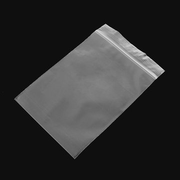 100Pcs 10x15cm Clear Plastic Zip Lock Bags Reclosable Storage Packaging Zipper Bags