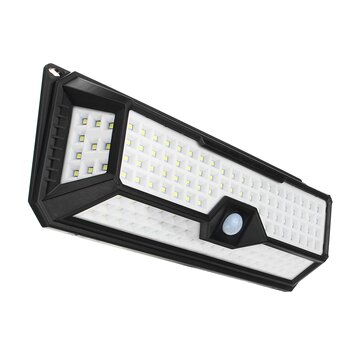 Waterproof 136 LED Solar Light PIR Motion Sensor Wall Lamp 3 Modes Dimmable Outdoor Garden Lamp