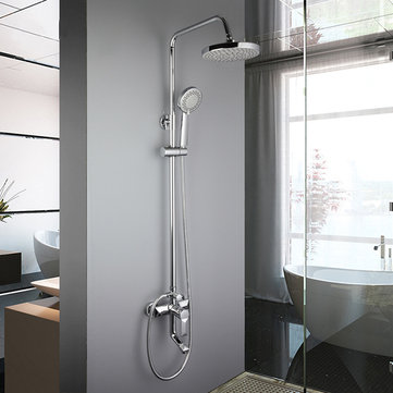 Frap F2418 Bathroom Wall Mounted Round Spray Rainfall Top Shower with Handheld Shower Head and Mixing Faucet Shower Sets