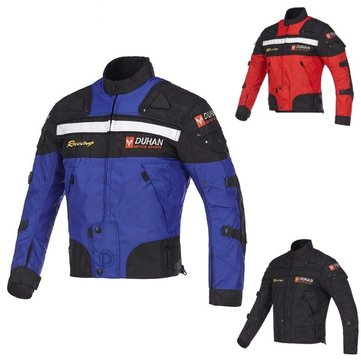 DUHAN Motocross Motorcycle Racing Windproof Jacket with Protector Gears D-020