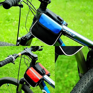 Bicycle Bike Front Frame Tube Mobile Phone Pannier Saddle Bag Case Holder Pouch