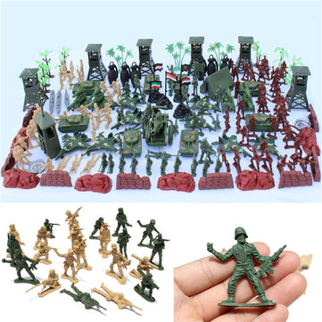 170 PCS Soldier Scene Model Set Toys For Kids Children Gift