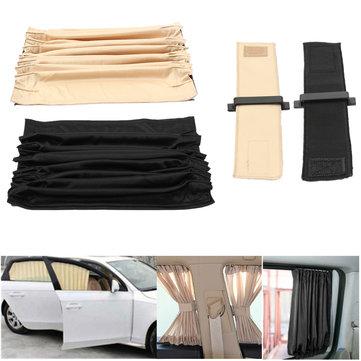 2pcs 70cm Mesh L Coche ventana cortina sombrilla Auto trasera cenefa protección UV