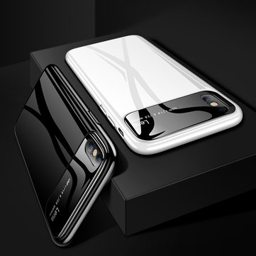 Bakeey Tempered Glass Lens Hard PC Glossy Protective Case for iPhone X/XS