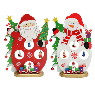 Christmas Party Home Decoration Santa Claus Snowman Table Ornaments Toys For Kids Children Gift
