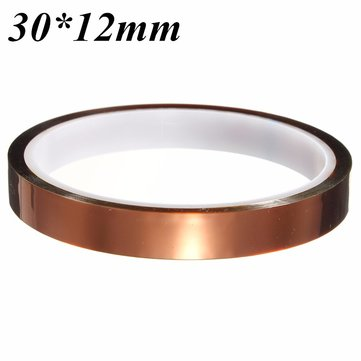 30m*12mm High Temperature Heat Resistant Polyimide Adhesive Tape for Electronic Industry