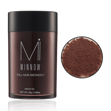 Minnow Hair Building Fibers Baldness Instantly Refill Keratin Fiber Hair Spray Powder Black Brown