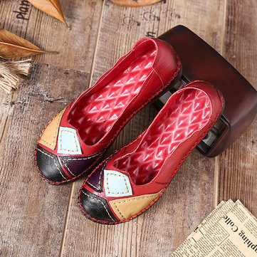 Handmade Leather Soft Flat Loafers