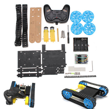 ₹2,083.76 Remote Control Chassis Tank Car Kit with 2xTT Motor + Handle Remote Control + Contorl Bord for Primary Student&Children Arduino Compatible SCM & DIY Kits from Electronics on banggood.com