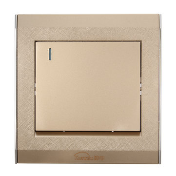 250V 16A Champagne Home Wall Switch Hotel 1Gang 1 Way Wall Switch