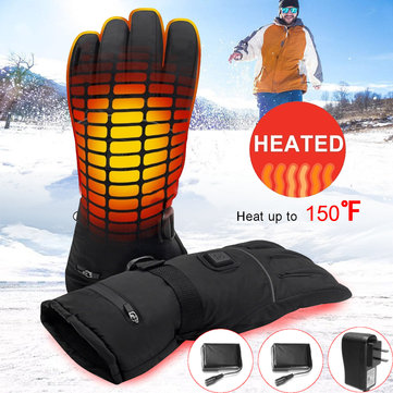 7.4V 2200MAH Smart Heated Gloves Men Women Winter Electric Heat Warm Sport Glove