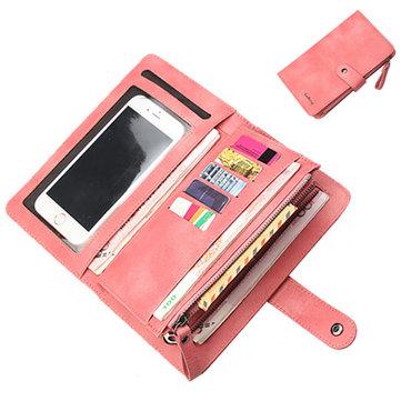 Baellerry Women 9 Cards Slots Long Wallet Phone Bag Women Purse