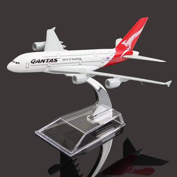 16cm avião avião de metal avião modelo a380 austrália qantas avião escala brinquedo de mesa