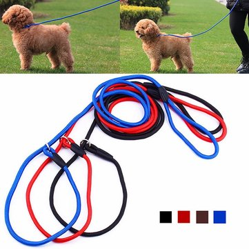 Nylon Pet Dog Puppy Training Leash Traction Lead Rope Belt & Adjustable Collar