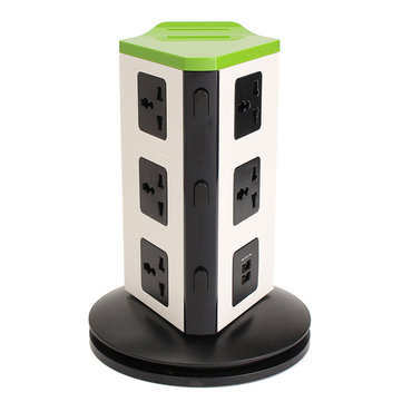 Universal 8 Port EU Plug Socket Wall Charger Dock Station with Bluetooth Speaker