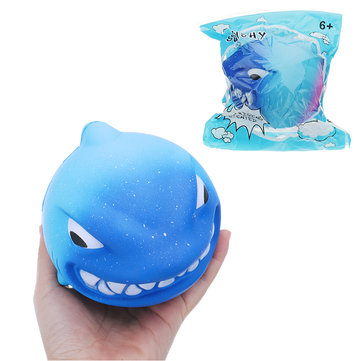 Big Shark Squishy 11.6*11.5*10CM Slow Rising With Packaging Collection Gift Soft Toy