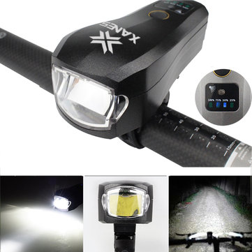 XANES SFL04 750LM T6 LED German Standard Smart Induction Bicycle Light IPX4 USB Rechargeable Large Flood Light
