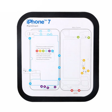 Magnetic Screw Keeper Memory Chart Mat for iPhone 6 6s Plus 7 7 Plus Teardown Repair Guide Pad Phone Repair Tools Kit