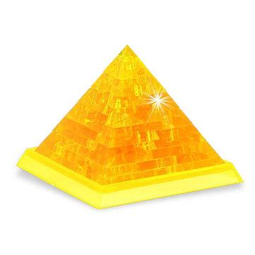 Nieuwigheid IQ Crystal Blocks Jigsaw Puzzle 3D Toy Pyramid DIY Model Gift