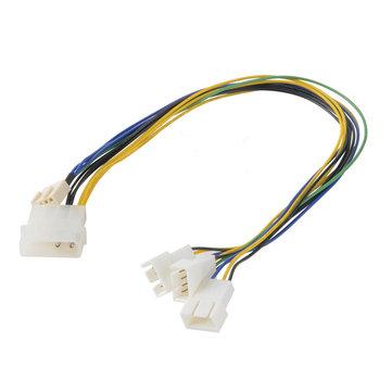 Akasa AK-CB002 PWM Splitter Smart Fan Cable Supports 3 PWM Fans Da un singolo Motherboard Header